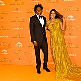 Pictured: JAY-Z and Beyoncé at The Lion King premiere in London.