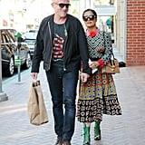 Salma Hayek's Gucci Dress August 2016
