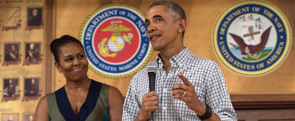 Michelle Obama's Wrap Dress Would Work Anywhere, but Her Accessories Made It Perfect For Hawaii