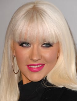Photo of Christina Aguilera Bleach Blonde Hair and Barbie Lips Lipstick. Love or Hate Her Hollywood Beauty Style?