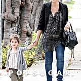 Sarah Michelle Gellar and Charlotte Prinze dressed in neutral shades.