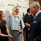 Geri Halliwell Kissing Prince Charles