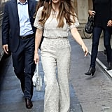 Jessica Biel was out and about in London to appear on Kiss FM.