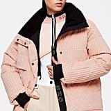 Topshop SNO Blush Corduroy Ski Jacket