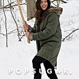 On Monday, Liv Tyler played with an axe during a break from filming The Leftovers in Harrison, NY.