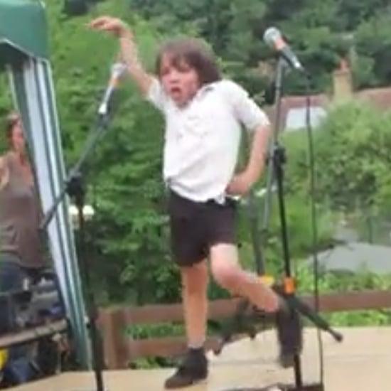 Little Boy Dances to Lady Gaga