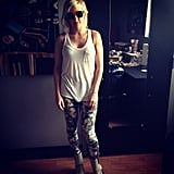 Ellie Goulding showed off a hip outfit. Source: Twitter user elliegoulding