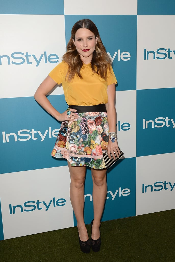 Sophia Bush arrived at InStyle's summer party in LA.