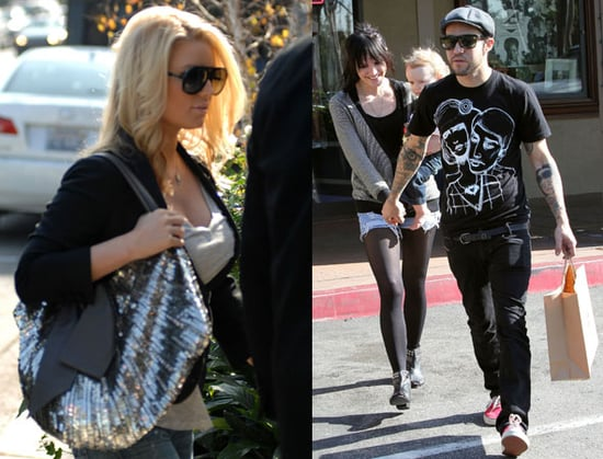 Photos of Ashlee Simpson and Jessica Simpson in LA