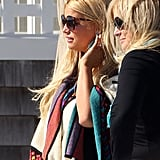 Jessica Simpson watched her family from the porch.