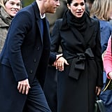 Prince Harry and Meghan Markle in Cardiff January 2018