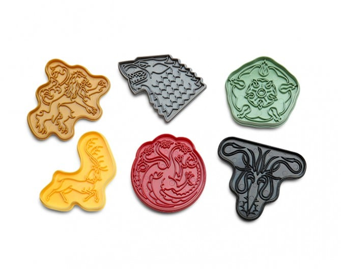 Game of Thrones Cookie Cutters ($20)