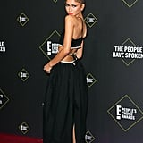Zendaya's Black Midi Dress Has Brilliantly Placed Cutouts
