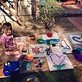 Stella McDermott got crafty outdoors. Source: Instagram user torianddean