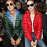 She and Pierre Looked Ridiculously Cool Parked Front Row at Moncler Gamme Rouge