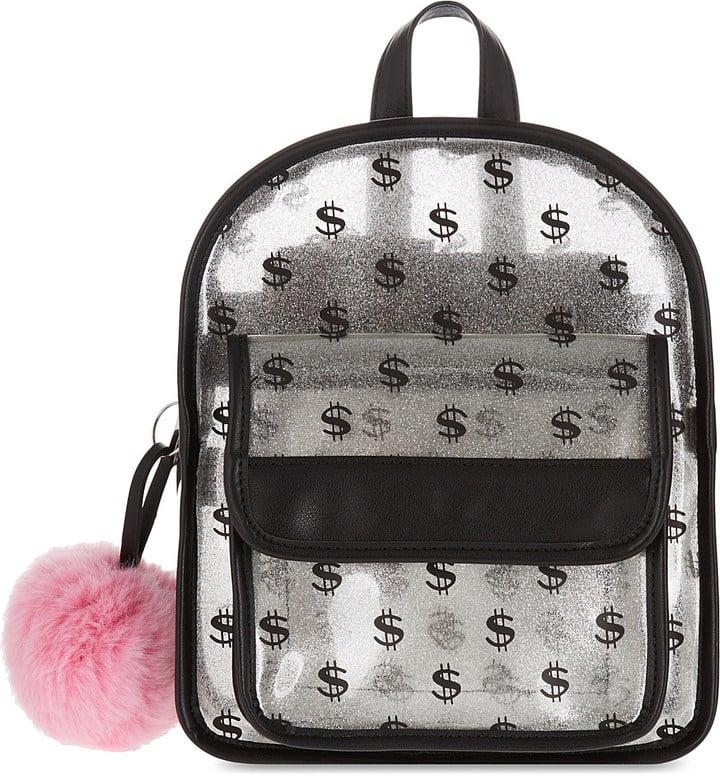 Transparent Glitter Backpack