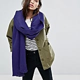 Asos Supersoft Long Woven Scarf In Purple