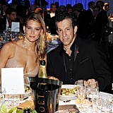 Bar Refaeli sat with designer Kenneth Cole.