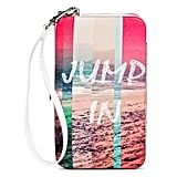 "Beach Print ""Jump In"" Cell Phone Case Wallet ($13)"