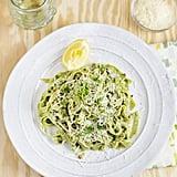 Kale Pasta With Parmesan Garlic Sauce