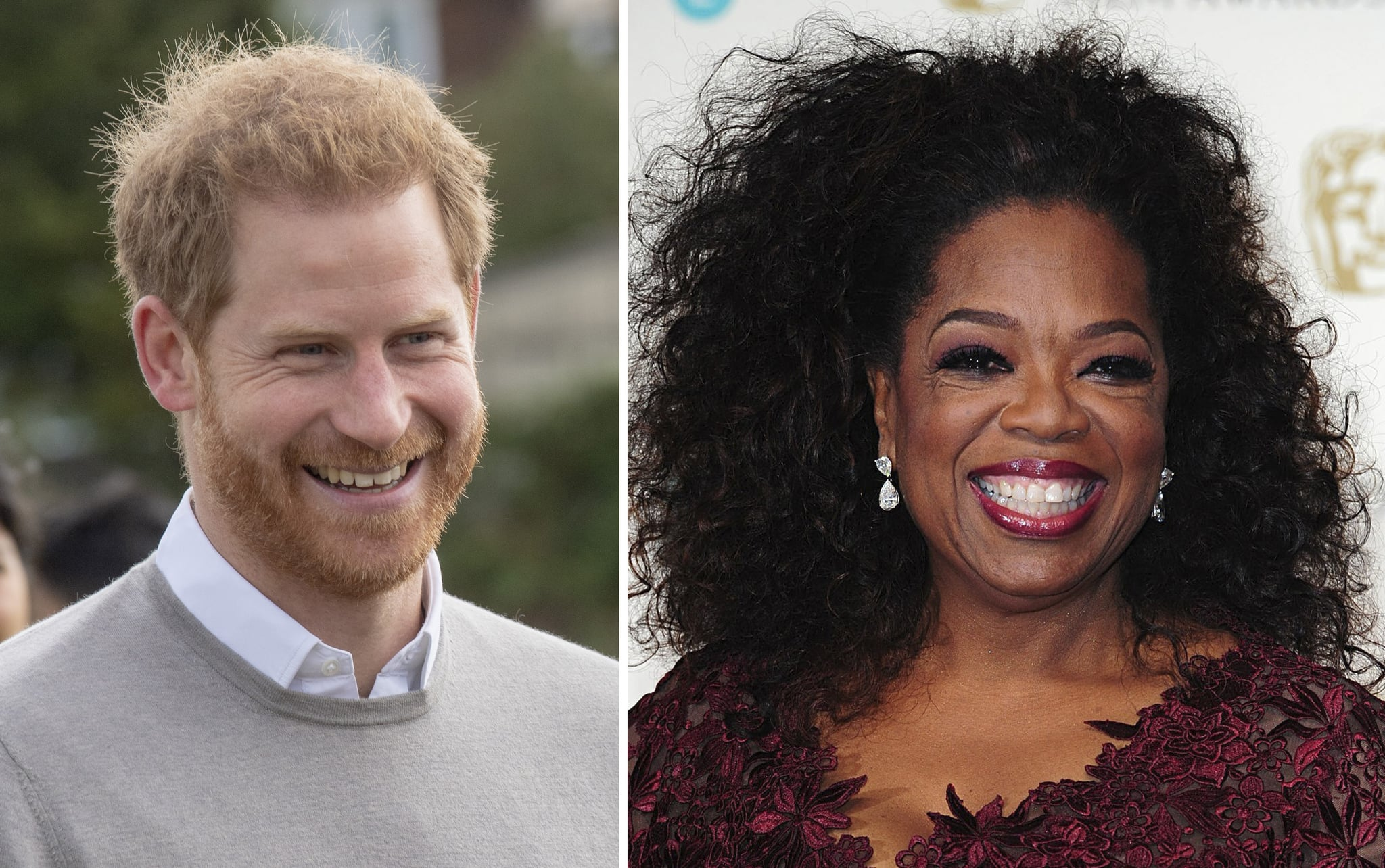 Undated file photos of the Duke of Sussex and Oprah Winfrey whose series addressing mental health will tell tales of the