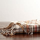 Pottery Barn Dunston Plaid Throw