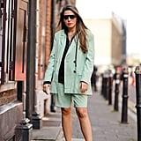 Style a Mint Green Set With Sneakers and Sunglasses