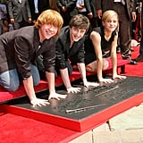 Emma Watson in 2007, With Rupert Grint and Daniel Radcliffe