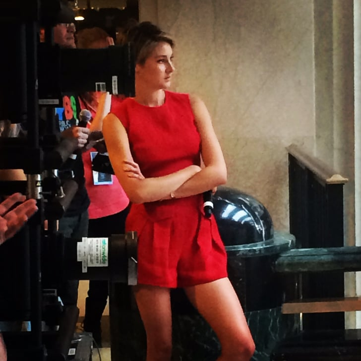 Shailene Woodley is slaying it in a hot red jumpsuit for ...
