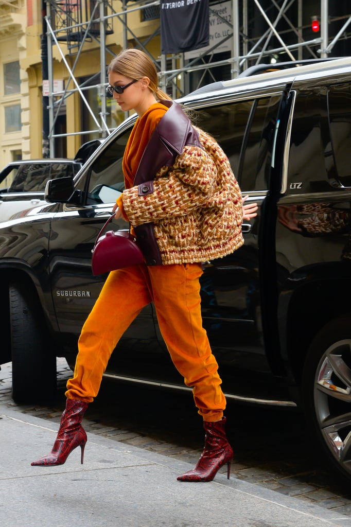 Gigi Hadid Red Snakeskin Boots From Mango