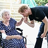 When Harry Delighted 95-Year-Old Ruth Uffleman With a Kiss on Her Hand