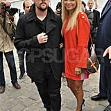 Nicole and Joel Turn Out to See Kate Moss Walk in the Louis Vuitton Show