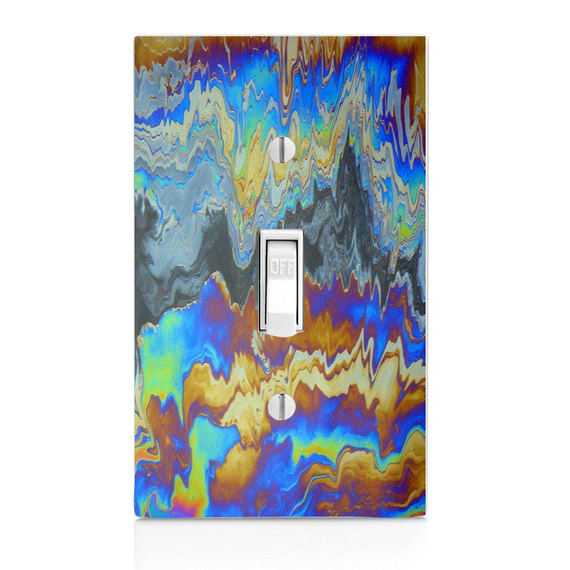 Light Switch Cover - Oil Slick ($5 - $8)