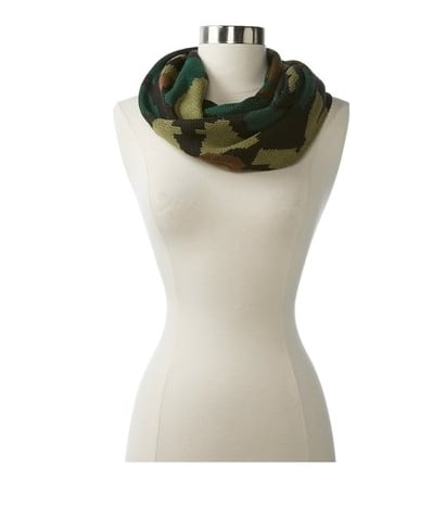 For camo lovers, get wrapped up in this Steve Madden camo infinity scarf ($48).