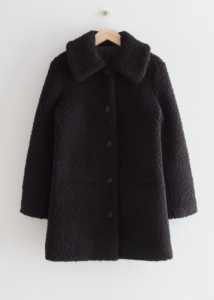 & Other Stories Faux Shearling Coat