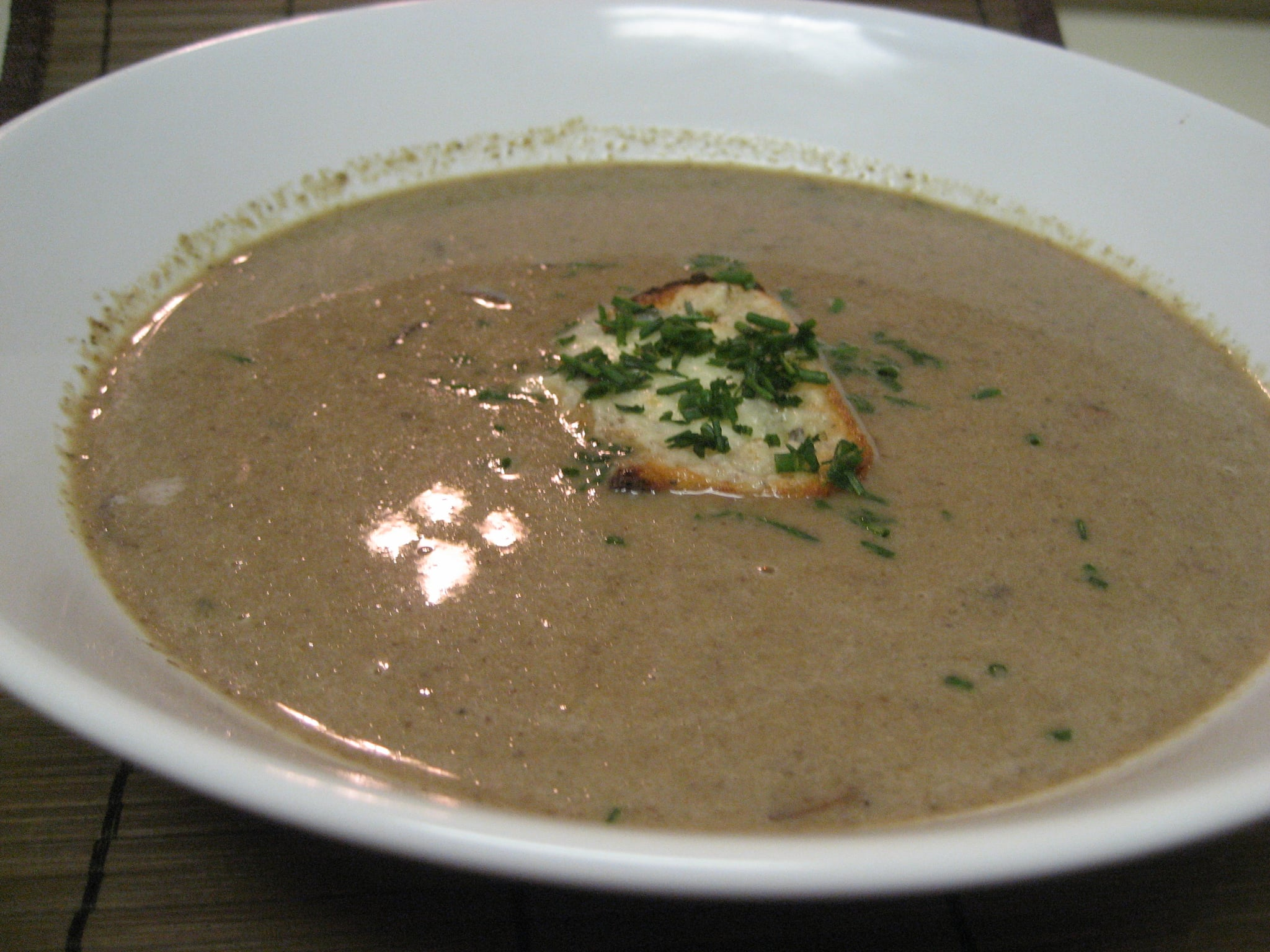 Soup's On: Mushroom Soup With Blue Cheese Toasts ...