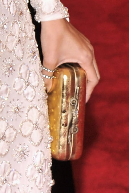 Nicole Richie brought a House of Harlow 1960 clutch and Maria Francesca Pepe ring.
