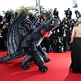 Cate Blanchett posed next to her animated costar at the How to Train Your Dragon 2 premiere.