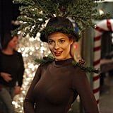 After her disastrous tap dancing recital, it looks like Britta's ready to take to the stage yet again, only this time she's dressed as a Christmas tree.  Photo courtesy of NBC