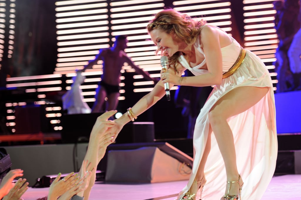 Pictures of Kylie Minogue in Verona at the Wind Music Awards, Plus Watch Her New Music Video for All The Lovers