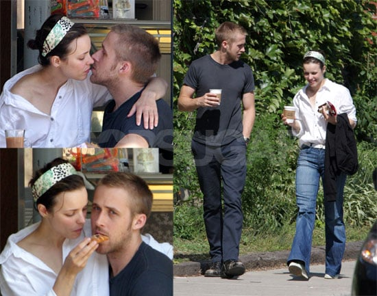 OMG! Ryan Gosling and Rachel McAdams Kissing at Lunch!