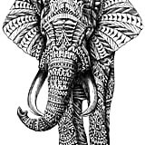 Ornate Elephant Print ($62 and up)