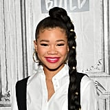 Storm Reid's Side Ponytail Braid