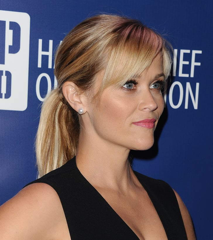 Reese Witherspoon How To Wear Hair Up With A Fringe Popsugar Beauty Uk Photo 5
