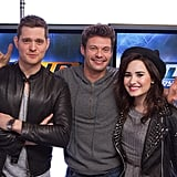 Michael Bublé and Demi Lovato dropped by Ryan Seacrest's radio show. Source: Twitter user michealbuble