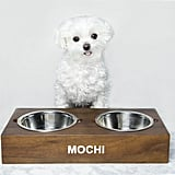 Mark and Graham Wooden Acacia Dog Bowl