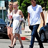 Kirsten Dunst and Garrett Hedlund were out and about together in LA.