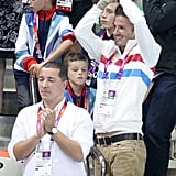 David Beckham Brings His Boys to Cheer on Team GB Diving