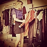 Julianne Hough pulled pieces for her Sole Society shoot. Source: Instagram user juleshough