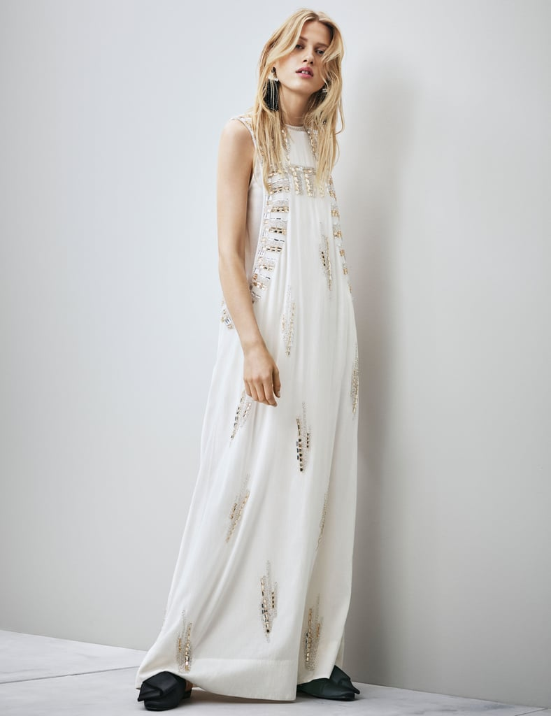 H&M Conscious Collection Beaded Silk Dress (Sold Out)